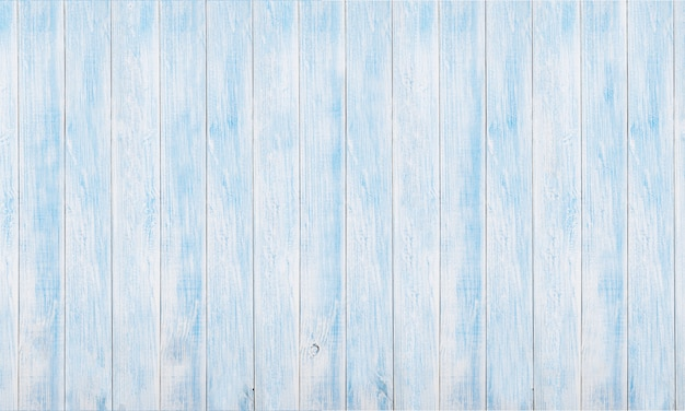 Panoramic white and blue wood board texture and backgrounds Premium Photo