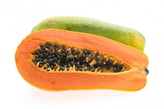 Papaya fruit isolated Free Photo