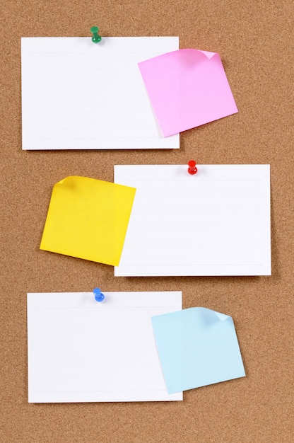 Paper and sticky notes  Free Photo