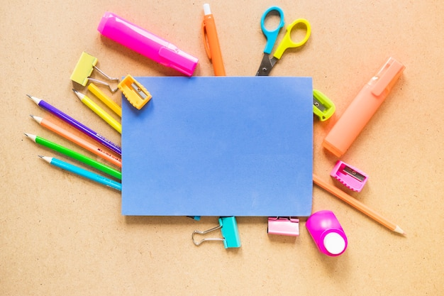 Paper on assorted stationery Free Photo