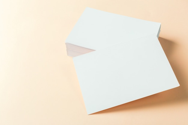 Paper blank business cards Premium Photo