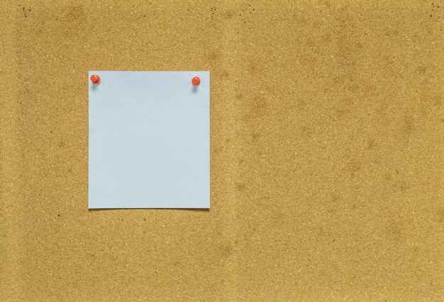 Paper on cork board for notice background Premium Photo
