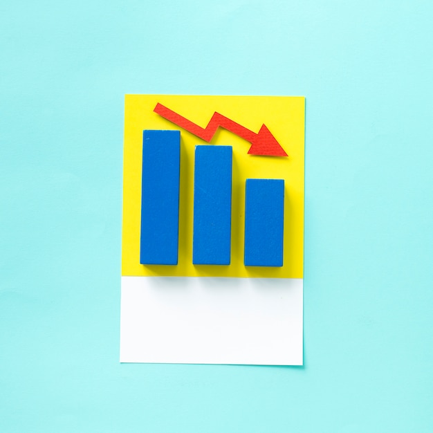 Paper craft art of a business chart Free Photo
