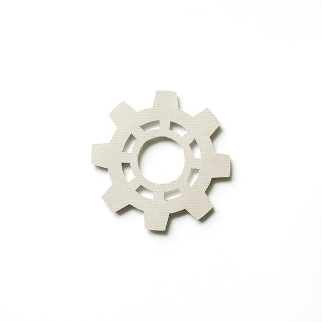 Paper craft art of cog icon Free Photo