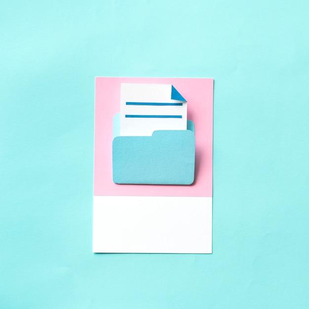 Paper craft art of document folder Free Photo