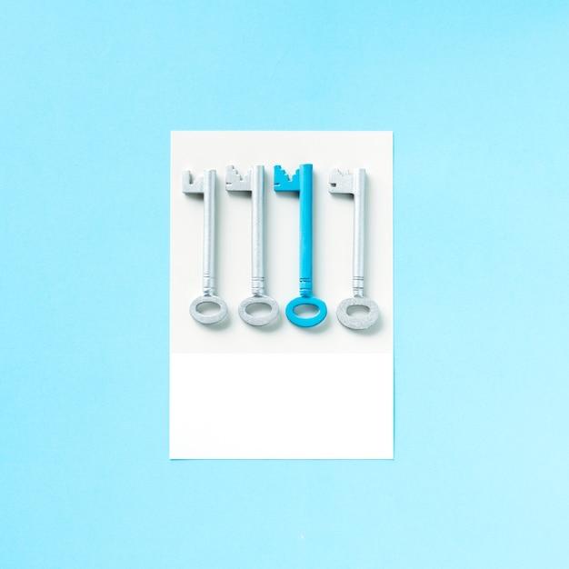 Paper craft art of keys Premium Photo