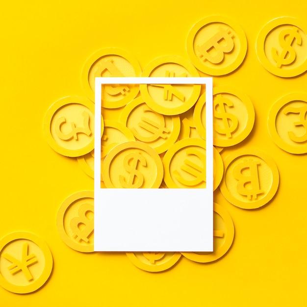 Бумага поделки искусство золотых монет Premium Фотографии