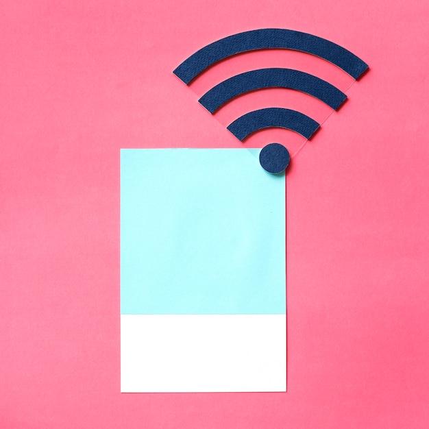 Paper craft art of wi-fi signal Free Photo