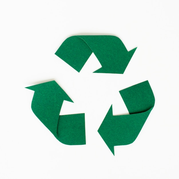Paper craft design of recycle icon Free Photo