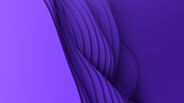 Paper cut abstract background. 3d clean violet carving art. paper craft colorful waves. minimalistic modern design for business presentations. Free Photo