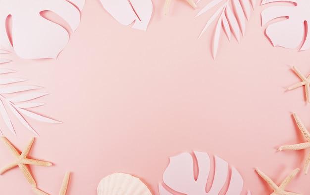 Paper cutting palm leaves Premium Photo