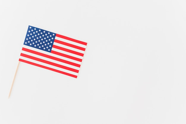 Paper flag of united states of america Free Photo