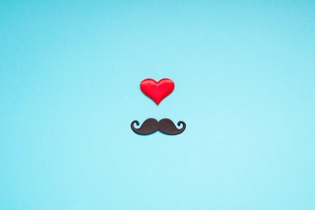 Paper moustaches for men fathers dad concept Premium Photo