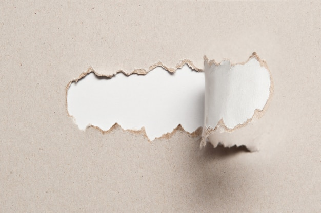 Текстура бумаги с разорванной половинкой середины Premium Фотографии