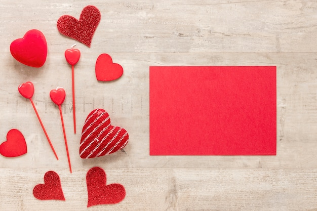 Paper for valentines day with hearts Free Photo