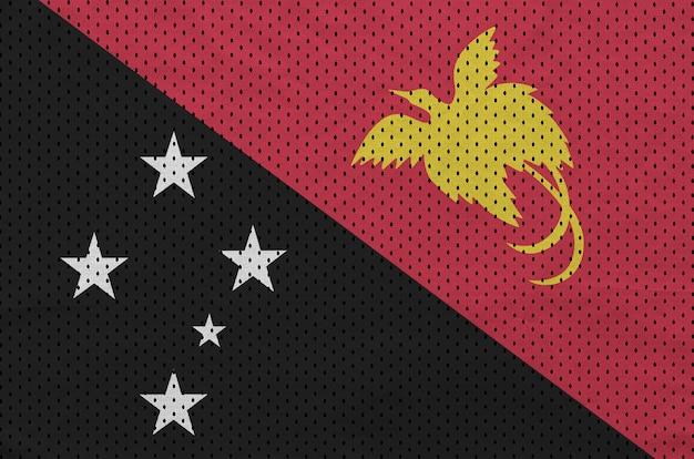 Papua new guinea flag printed on a polyester nylon sportswear Premium Photo