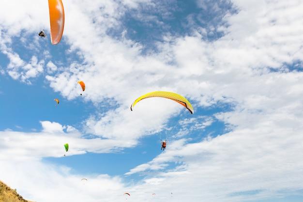 Paraplane flying high up Premium Photo