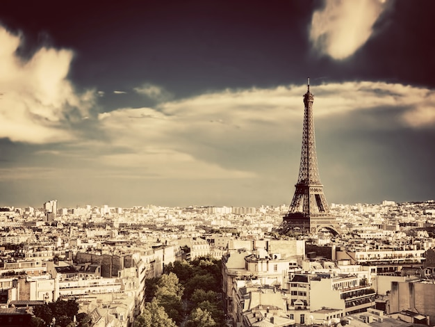 Paris city view from high Free Photo