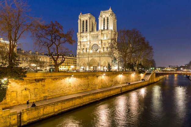 Paris notre dame Premium Photo