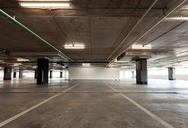 Parking garage interior, industrial building Premium Photo