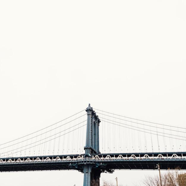 Part of bridge in new york Free Photo