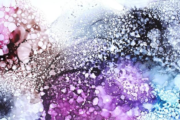 元のアルコール水墨画、抽象的な背景の一部 Premium写真