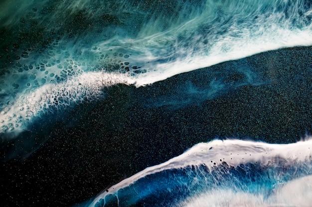 Part of original epoxy resin art background Premium Photo