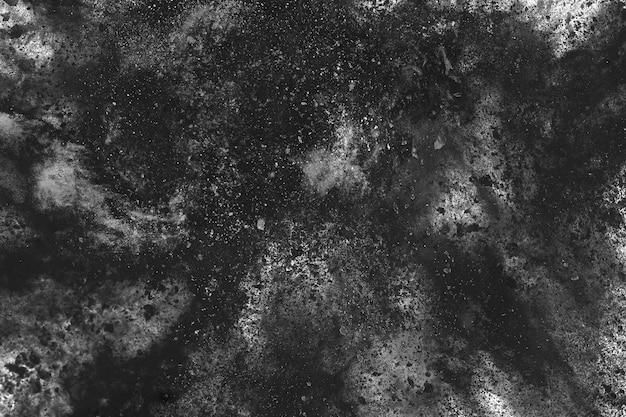白い背景の上の木炭の粒子。 Premium写真