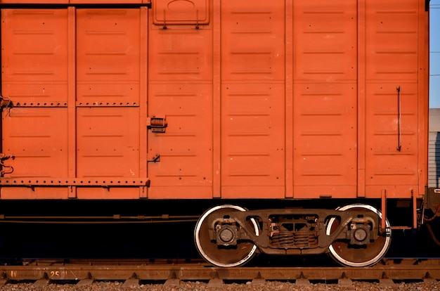 Parts of the freight railcar Premium Photo
