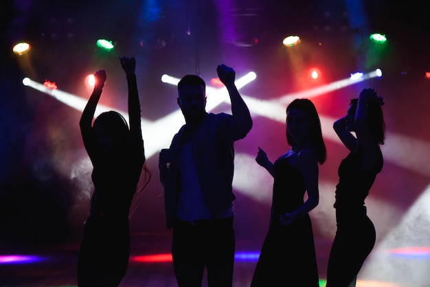 Party, holidays, celebration, nightlife and people concept Premium Photo