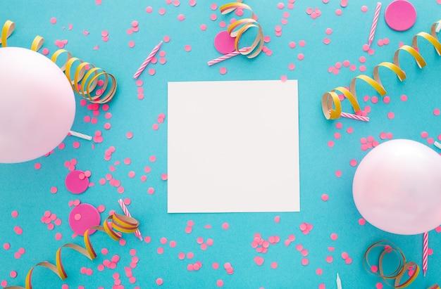 テキスト用のスペースがあるパーティーや誕生日のバナー 無料写真
