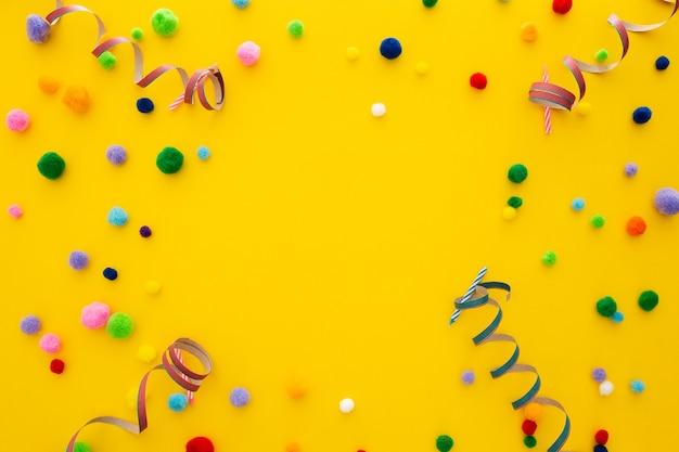 텍스트를위한 공간으로 파티 또는 생일 배너 무료 사진