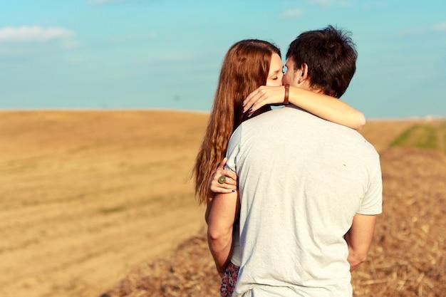 Girl Kissing Her Boyfriend
