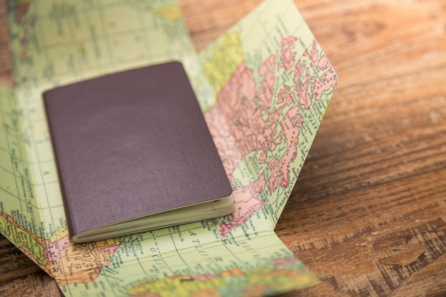 Passport on top of a world map photo free download passport on top of a world map free photo gumiabroncs Images