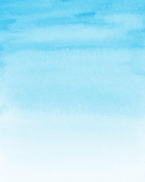 Pastel blue watercolor background Premium Photo