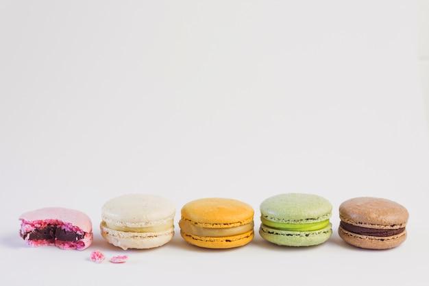 Pastel color macaron line Free Photo