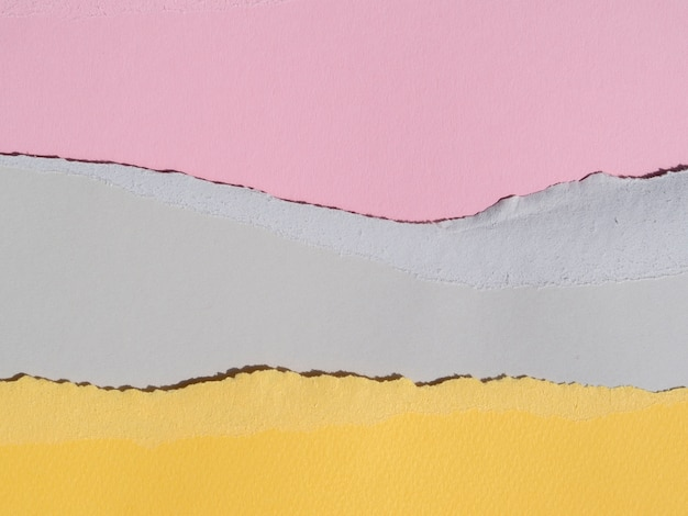Pastel colours of ripped abstract paper lines Free Photo
