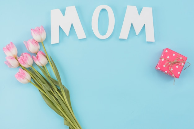 Pastel set of attributes for mother`s day Free Photo