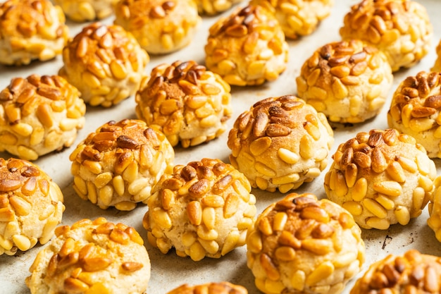 Pastries typical dessert of catalonia, spain Premium Photo