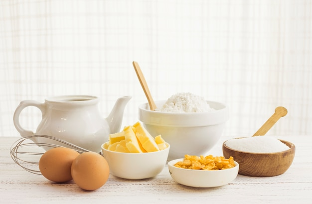 Pastry preparation ingredients Free Photo