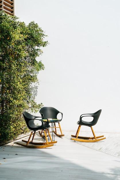 Patio deck and chair Premium Photo