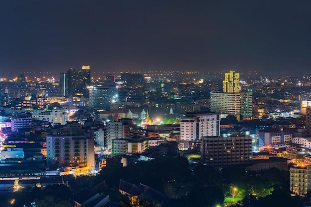 Pattay cityscape view at night, thailand Premium Photo