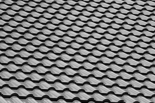 Pattern of ceramic tile roof Premium Photo