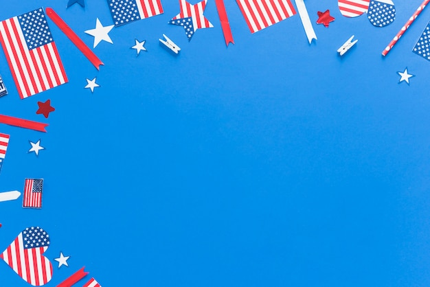 Pattern in colors of usa flag Free Photo