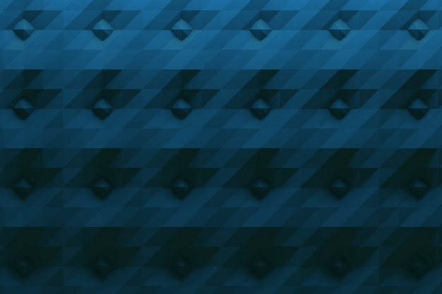 Pattern in dark blue color with spikes and folded surface Premium Photo
