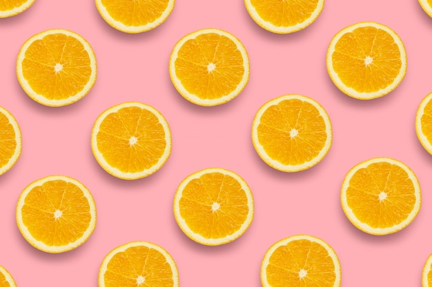 Pattern of fresh orange slices Premium Photo