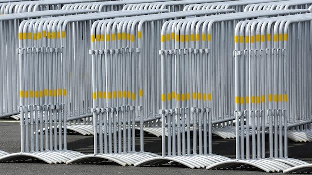 Pattern of metal traffic barrier Premium Photo