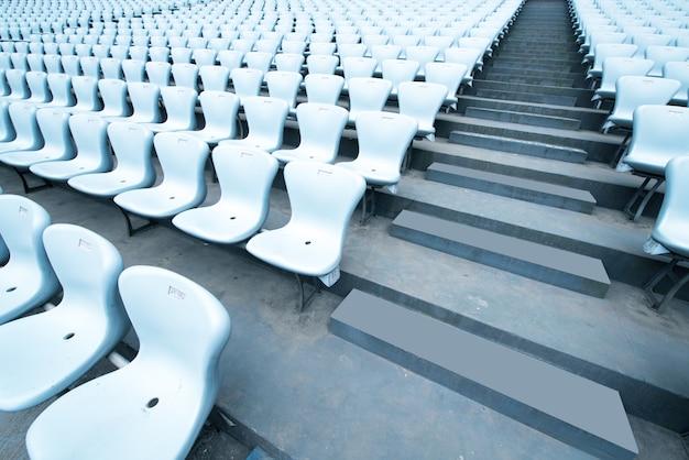 Pattern of white stadium seats Premium Photo
