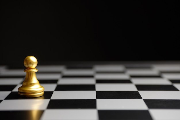 Pawn chess piece concert copy space. personnel reserve and employee recruitment. Premium Photo