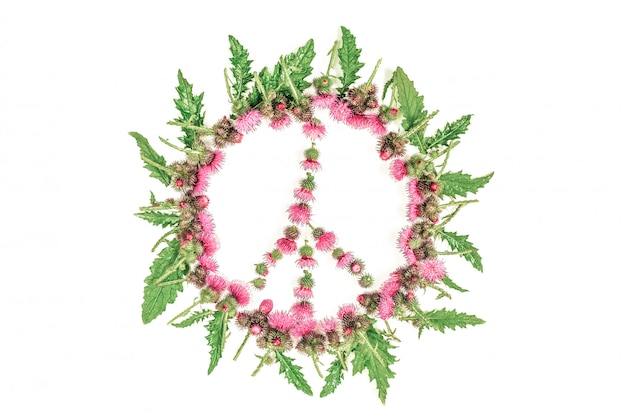 Peace sign (pacific)-a symbol of peace, disarmament and anti